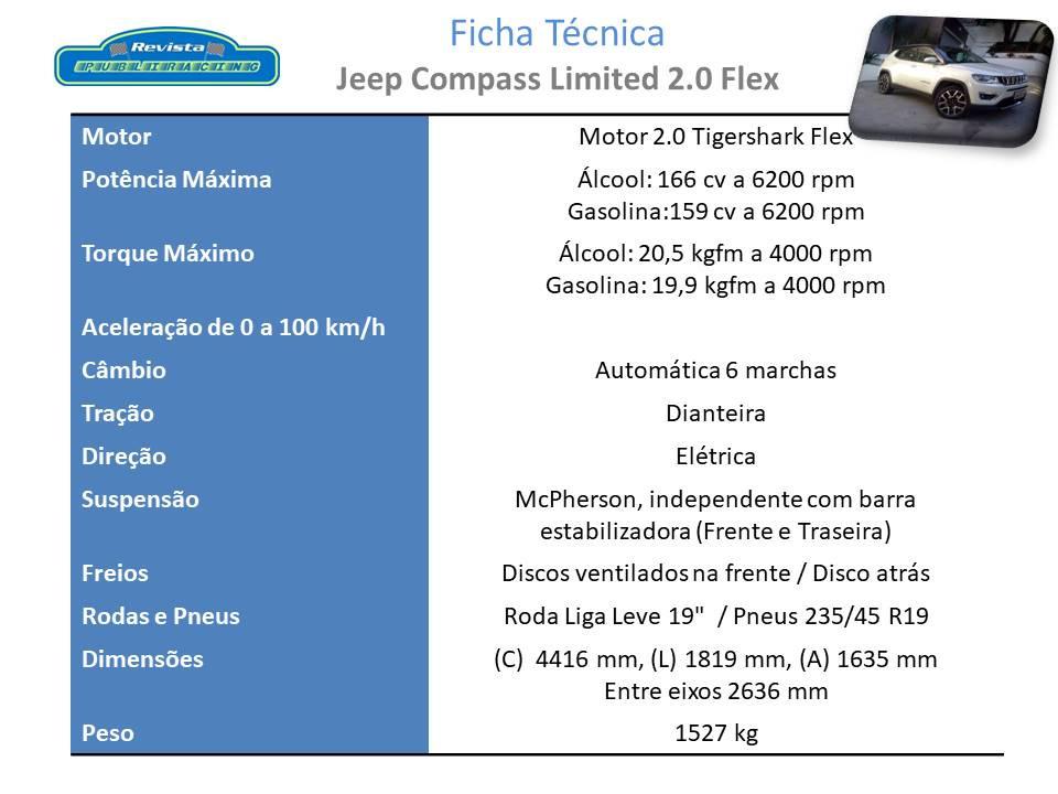 Avaliação: Jeep Compass Limited Flex, para quem privilegia o conforto, requinte e segurança