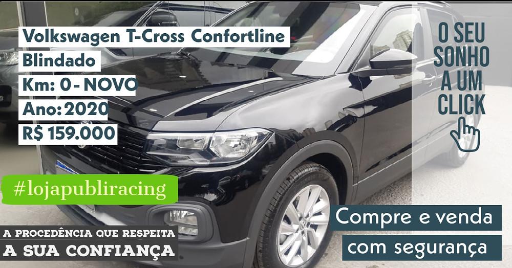 ACESSE #LOJA CLICANDO - Volkswagen T-Cross Confortline - Blindado - NOVO