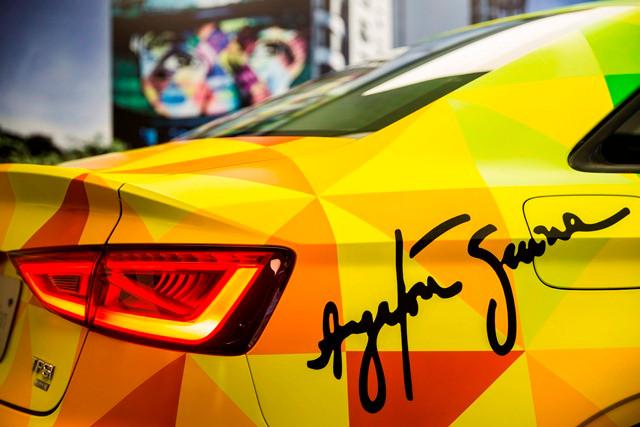 Primeiro A3 Sedan fabricado no Brasil  ganha pintura especial em homenagem ao Ayrton Senna