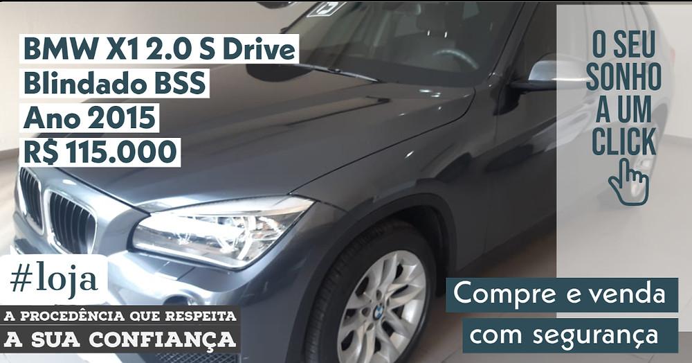NA #LOJA PUBLIRACING - BMW X1 2.0 S Drive Blindado BSS - Ano 2015