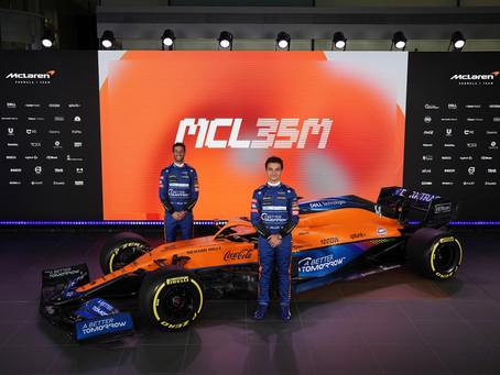 F1: Revelado o McLaren MCL35M para a temporada 2021