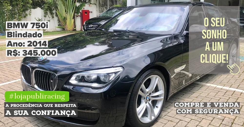 ACESSE #LOJAPUBLIRACING CLICANDO - BMW 750i Blindado Ano 2014