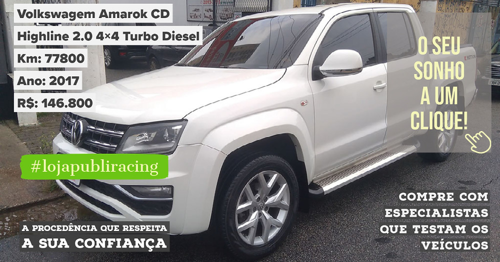 ACESSE #LOJAPUBLIRACING CLICANDO - Volkswagen Amarok CD Turbo Diesel Ano 2017