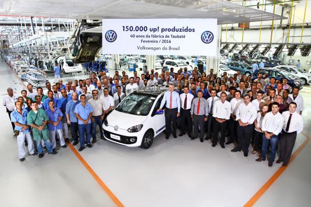 Em ano de celebração dos seus 40 anos, fábrica de Taubaté da Volkswagen já produziu 150 mil up