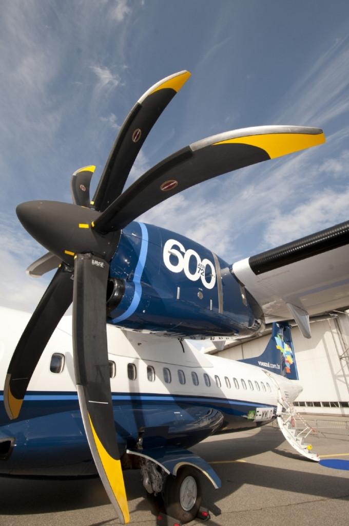 Hélice do ATR 600 - Azul