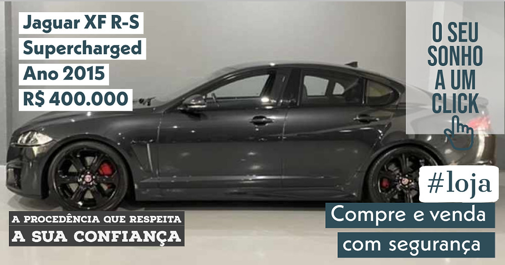 ACESSE #LOJA CLICANDO - Jaguar XF R-S Supercharged - Ano 2015
