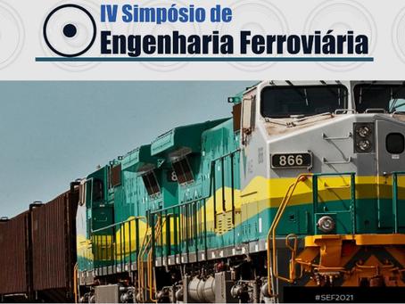IV Simpósio de Eng. Ferroviária será realizado online entre os dias 19 e 20 de maio