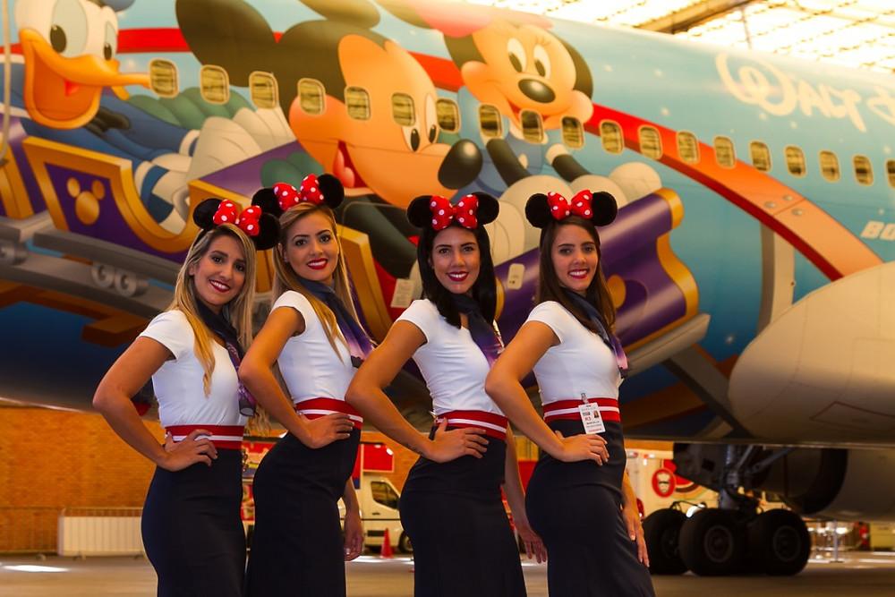 TAM apresentou sua aeronave temática de Walt Disney World