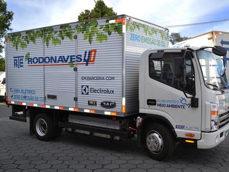 Frota da RTE Rodonaves agora conta com 6 caminhões 100% elétricos
