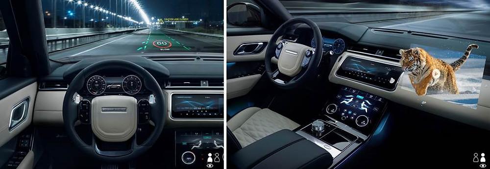 Jaguar Land Rover desenvolve novas possibilidades para o uso do Head-Up Display