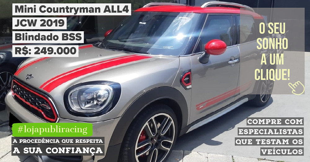 ACESSE #LOJAPUBLIRACING CLICANDO - Mini Countryman ALL4 Blindado
