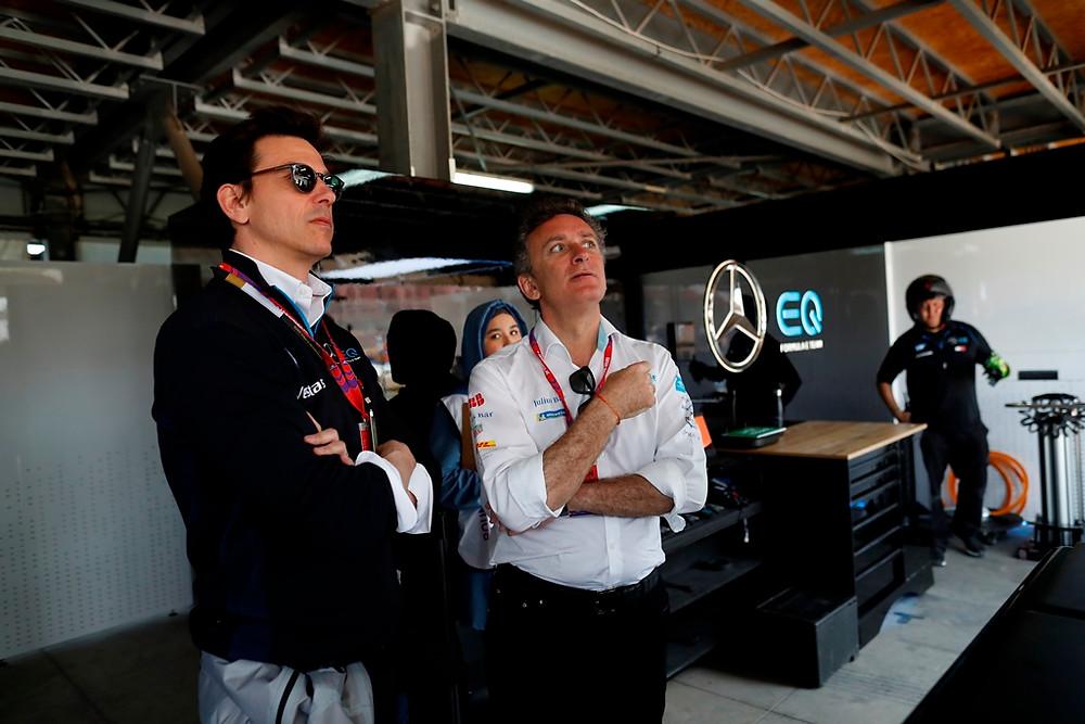 Toto Wolff fala que Fórmula 1 e a Fórmula E poderiam correr juntas