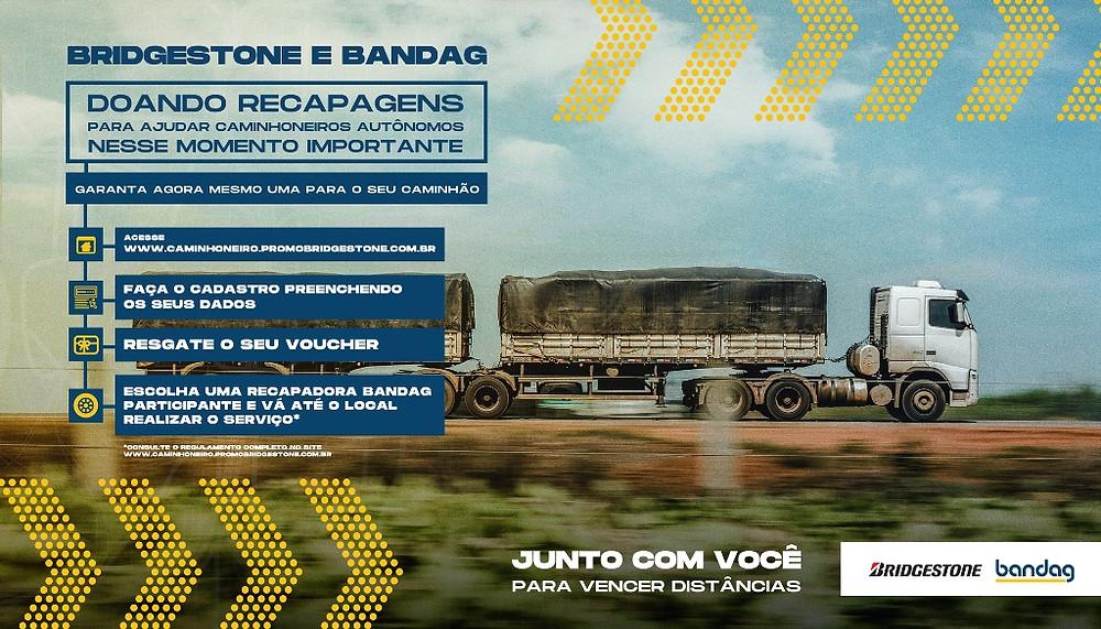 Bridgestone realiza ação de apoio a caminhoneiros autônomos durante pandemia
