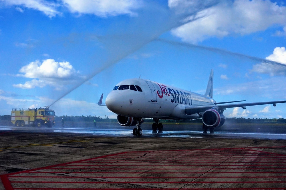 Aviação: Jetsmart faz voo inaugural em Foz do Iguaçu