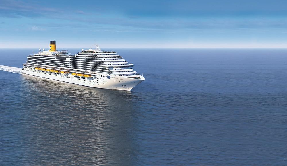 Viagem inaugural do navio Costa Venezia, da Costa Cruzeiros, sai de Trieste, em Veneza, no dia 8 de março de 2019