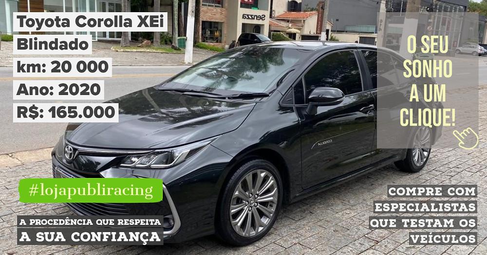 ACESSE #LOJA PUBLIRACING -Toyota Corolla Blindado