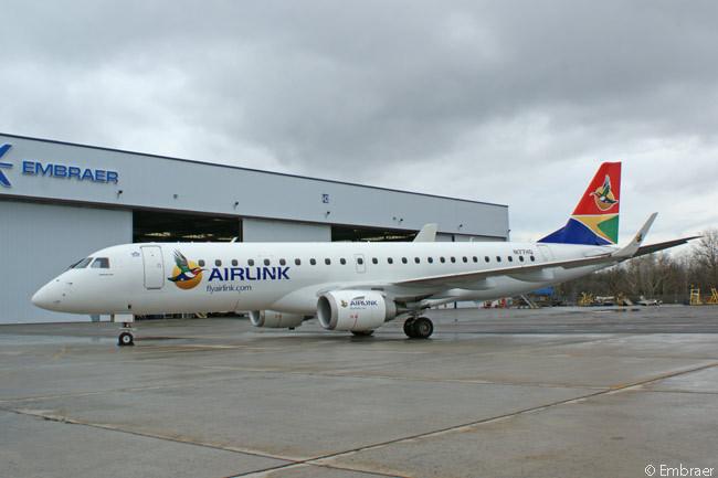 Airlink recebe primeiro E-Jet e expande programa pool de peças de reposição