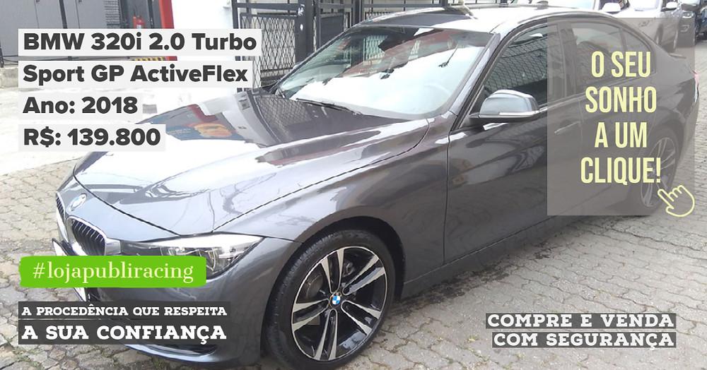 ACESSE #LOJAPUBLIRACING CLICANDO - BMW 320i Ano 2018
