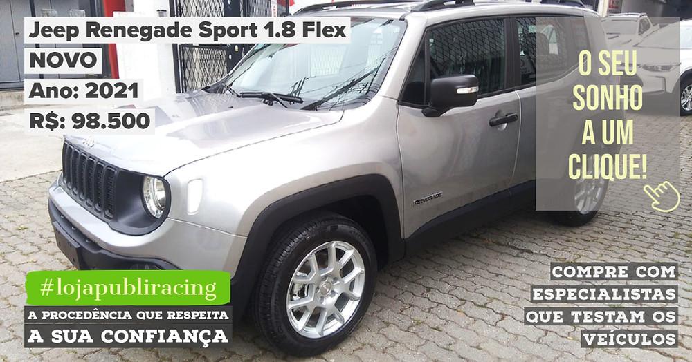 ACESSE #LOJA PUBLIRACING - Jeep Renegade Sport 1.8
