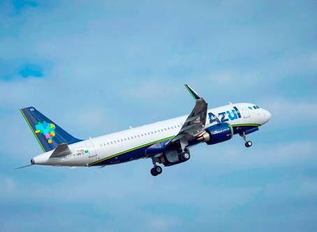 Aviação: Azul terá 505 voos diários e atenderá 89 destinos em outubro