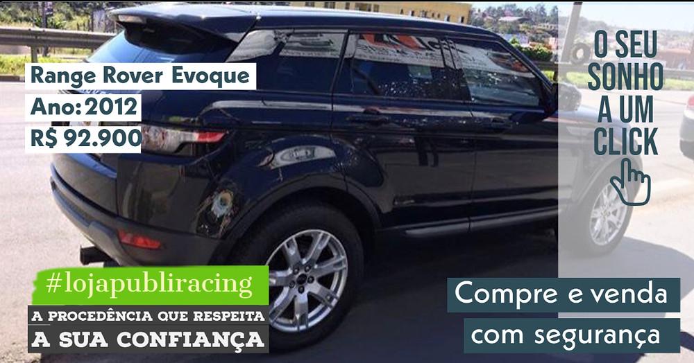 NA LOJA PUBLIRACING - Range Rover Evoque - Ano 2012