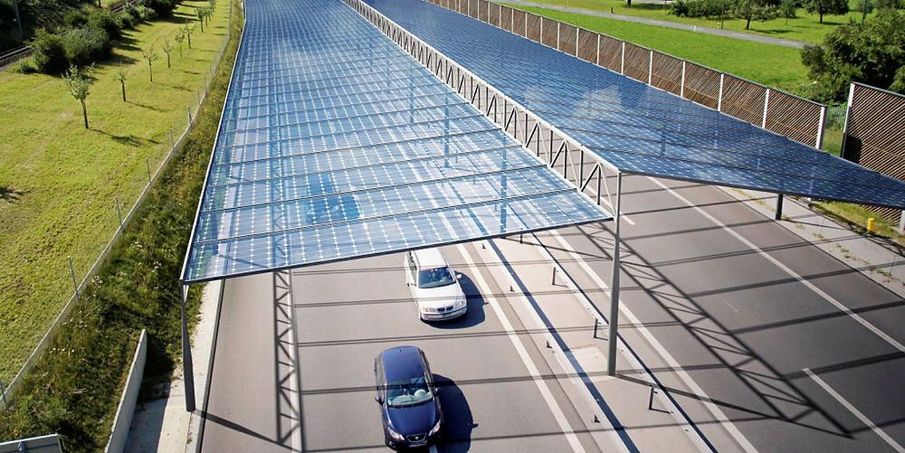 Expressas: Alemanha e Áustria poderão ter autoestradas com teto solar para produzir energia