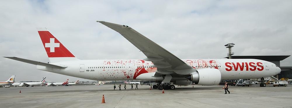 SWISS faz promoção para celebrar a chegada da Boeing 777-300ER a São Paulo