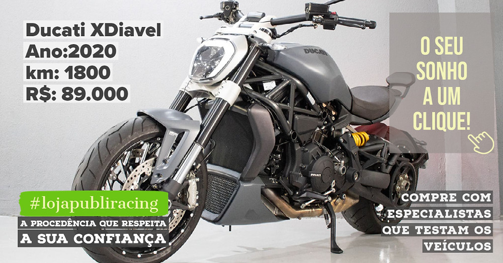 ACESSE #LOJAPUBLIRACING CLICANDO - Ducati XDiavel Ano 2020