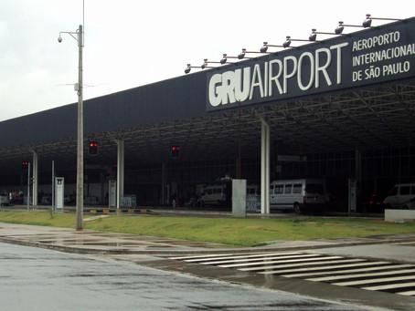 Aviação: GRU Airport registra queda de 72% no tráfego internacional em 2020
