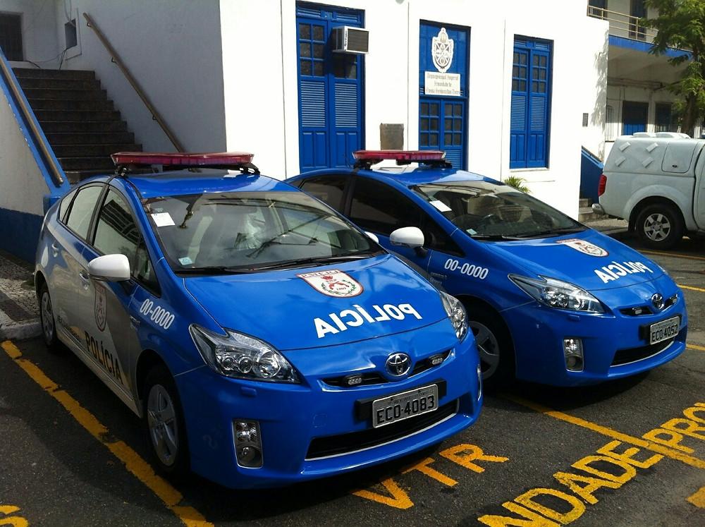 Duas unidades do hybrido Toyota Prius passam a integrar a frota da Polícia Militar do Rio de Janeiro