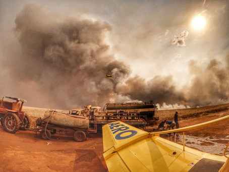Aviação: Empresa aeroagrícola de Goiás treina pilotos para a temporada de incêndios