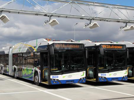 Cracóvia recebe primeiras unidades do ônibus elétrico Urbino 18 da Solaris