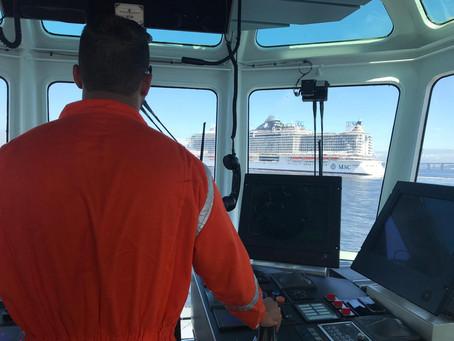 Wilson Sons participa do recebimento do maior navio de cruzeiro da história do Brasil