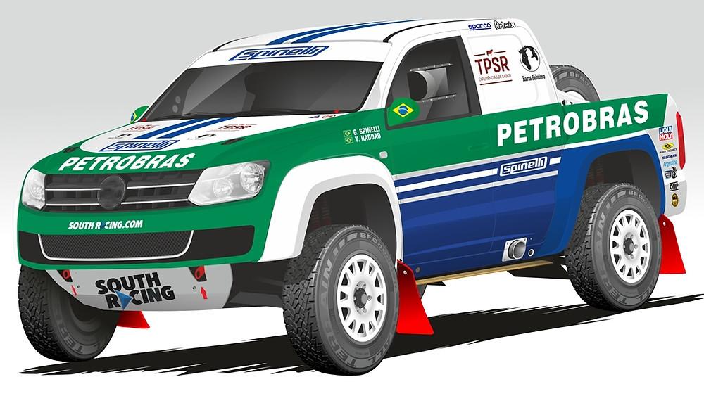 Com um carro da South Racing, Guiga Spinelli e Youssef Haddad, enfrentam etapa do Mundial de Rally Cross Country na Europa
