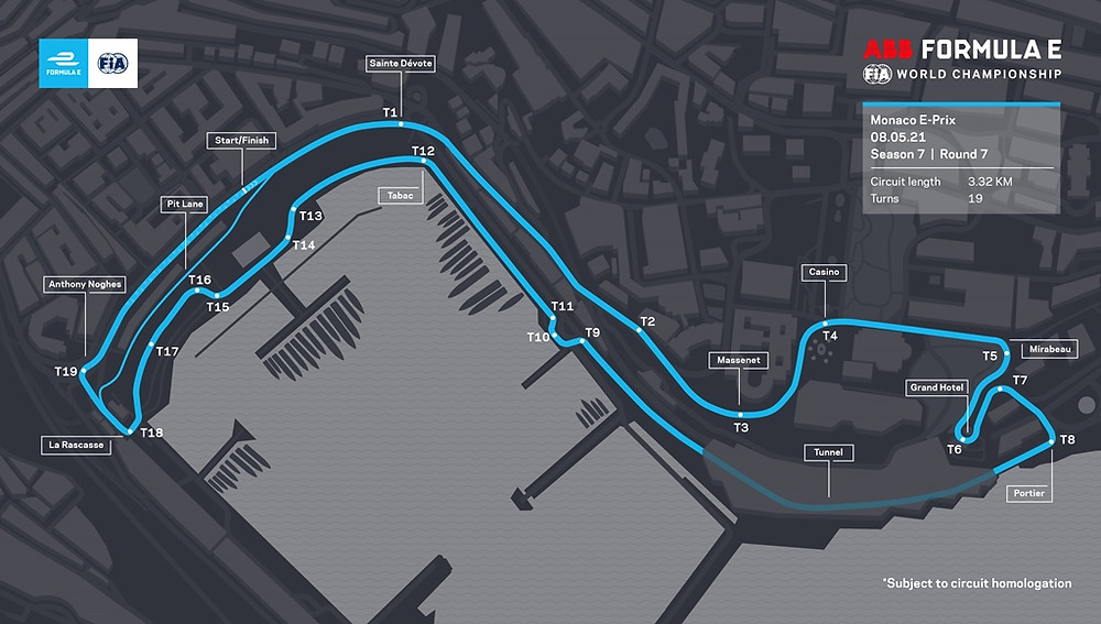 Fórmula E e FIA revelam o novo layout do circuito para a categoria no Mônaco
