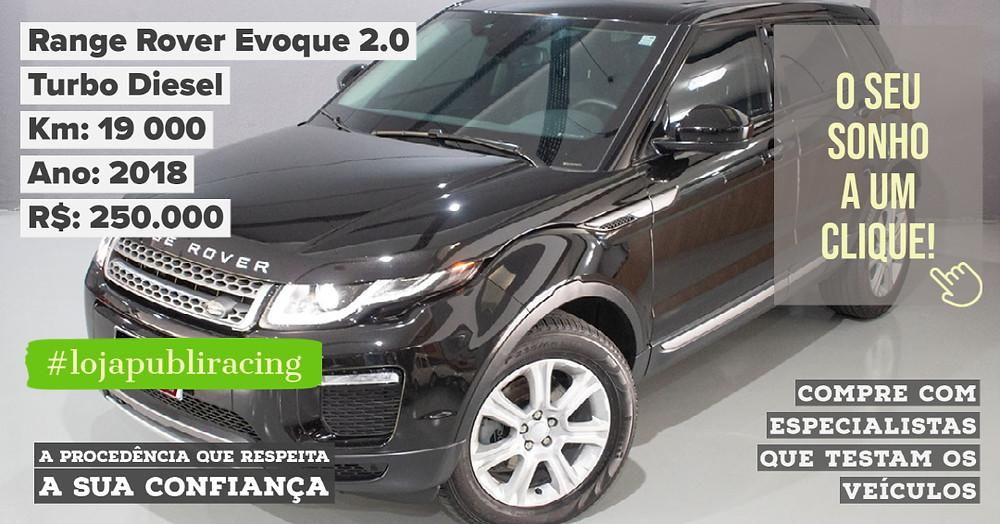 ACESSE #LOJAPUBLIRACING CLICANDO - Range Rover Evoque 2.0 Turbo Diesel