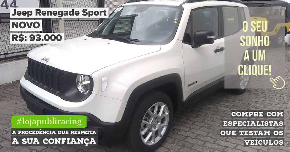 ACESSE #LOJAPUBLIRACING CLICANDO - Jeep Renegade Sport NOVO