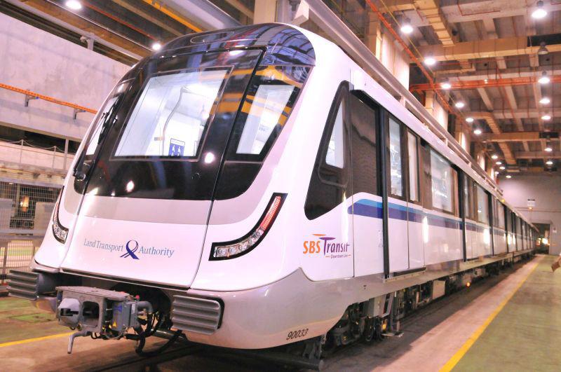 Bombardier finaliza entrega de trens Movia para o metrô de Singapura