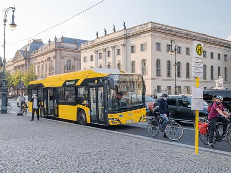 Berlim recebe 90 ônibus elétricos Solaris