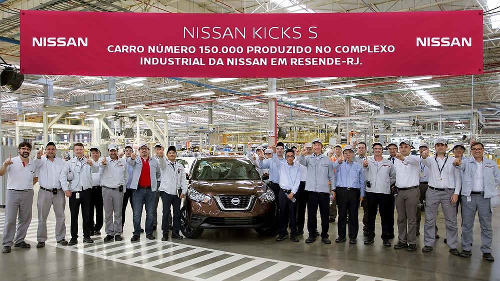 Complexo Industrial da Nissan, em Resende, alcançou os 150 mil veículos produzidos.