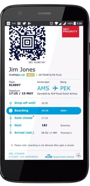 KLM estende informações sobre voos ao Twitter e ao WeChat