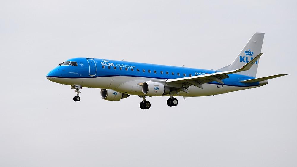 KLM Cityhopper recebe 40ª aeronave Embraer em Schiphol