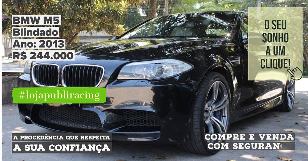ACESSE #LOJA CLICANDO - BMW M5 Blindado - Ano 2013