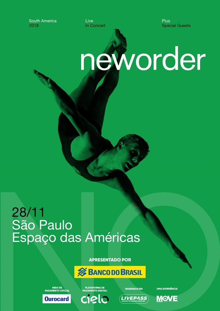 New Order com show no Espaço das Américas no dia 28 de novembro