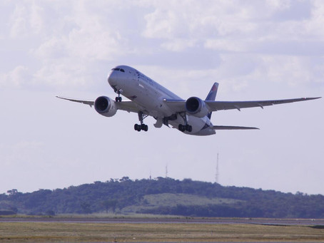 Aeroporto Internacional de BH recebe voo inédito da Austrália com Boeing 787-900 Dreamliner