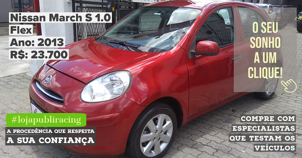 ACESSE #LOJAPUBLIRACING CLICANDO - Nissan March S 1.0 Ano 2013