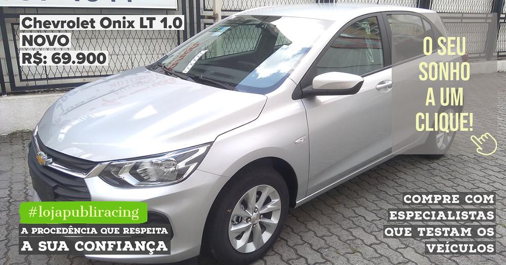 ACESSE #LOJAPUBLIRACING CLICANDO - Chevrolet Onix LT Novo
