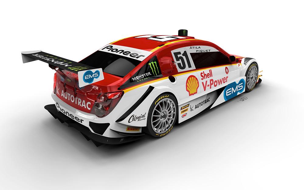Carro de Átila Abreu, agora piloto da Shell Racing
