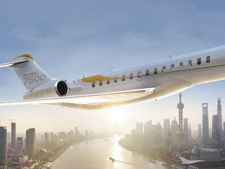 Aviação: Bombardier entrega a unidade 50 do Global 7500