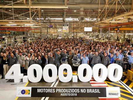 Fábrica de motores da Renault no Brasil comemora 20 anos e mais de 4 milhões  de unidades produzidas